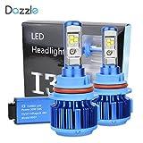 Dazzle LED Headlight Bulbs Conversion Kit - 9004 - 7,200Lm 60W 6000K Cool White CREE - 2 Yr Warranty