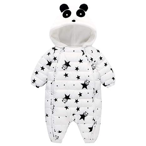 Mono de Nieve Bebés, Mameluco de Invierno Lindo Panda Pijama Peleles con Capucha