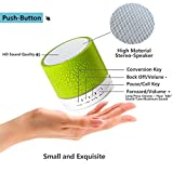 Leacoco Mini Wireless Portable Bluetooth Speaker With LED and Build-in Mic Support AUX TF for iPhone iPod and Android System Equipment Etc. (Green)