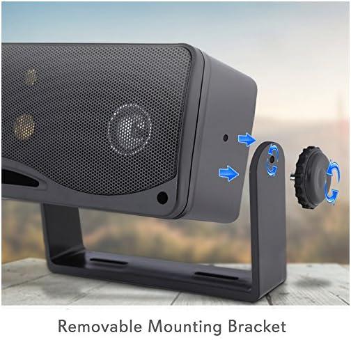 3-way Mini Box Speaker System - 3.5 Inch 200 Watt Weatherproof Marine Grade Mount Speakers - in a Heavy Duty ABS… |