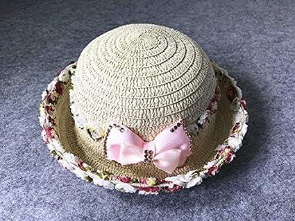 7f8cf531e Amazon.com: Unique Children's Summer Straw hat Cap Girl Baby Girls ...