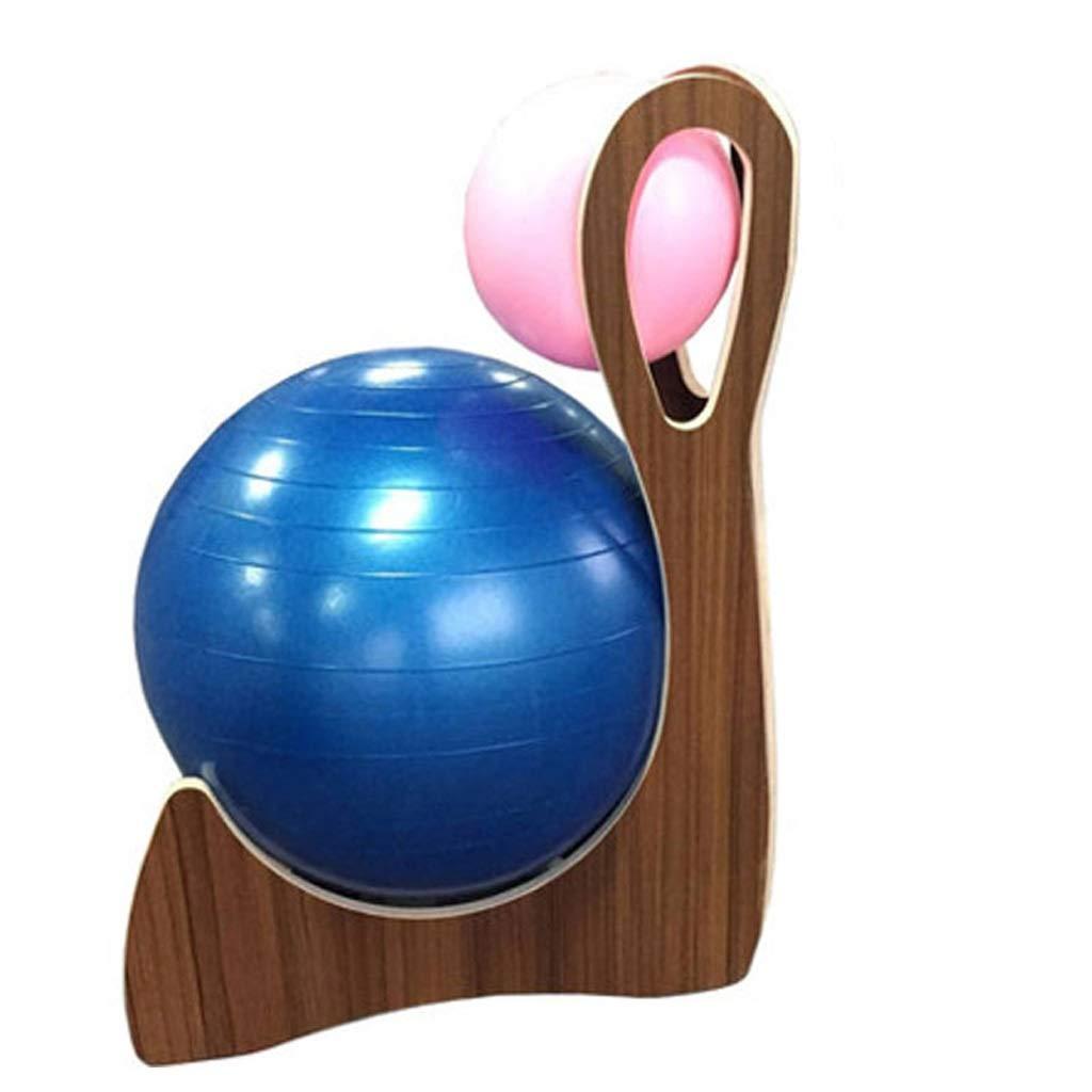 人間工学に基づいたオフィスチェア、ヨガボール付きバランスボールチェア、ピラティスプロチェア、オフィス用ヨガボールチェア、ベース付きエクササイズボール (色 : Brown)  Brown B07PSLQ4Q6