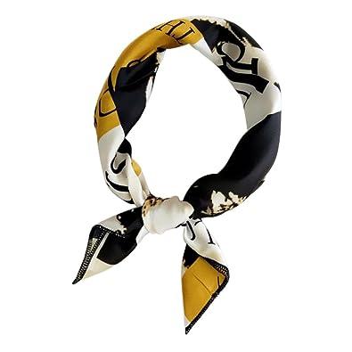 0bead1329d14 Lunji Bandana Cheveux Multifonction - Doux Satin Bandeau de Tête - pour  Femme Fille (1