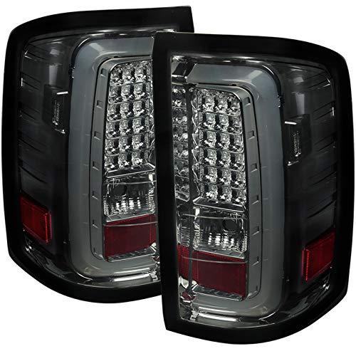 Carpartsinnovate For GMC 14-18 Sierra 1500 2500HD 3500HD Pickup Smoke LED Tail Lights Brake Lamps