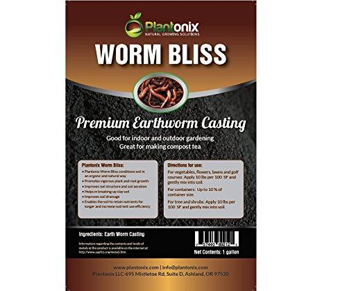 Worm Bliss Premium Vegan & Organic Earthworm Castings, (2 Yard)