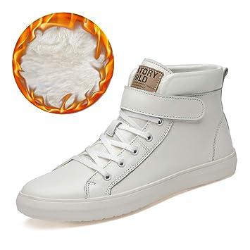 Jaypar Zapatos de Moda para Hombre Botines Ocasionales Correa de Gancho y Lazo Zapatillas Deportivas Altas