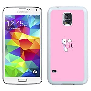 NEW Unique Custom Designed Samsung Galaxy S5 I9600 G900a G900v G900p G900t G900w Phone Case With Pig Cartoon Minimal Illustration_White Phone Case