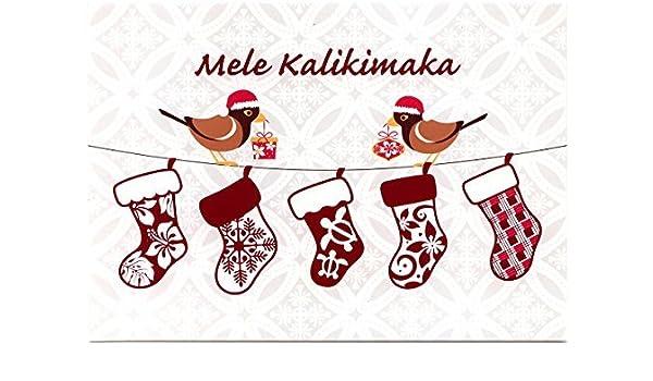 Mele Kalikimaka Christmas Cards.Amazon Com Hawaiian Quilt Stockings Mynah Bird Christmas