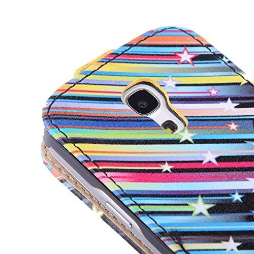 XIAOGUA Cases & Covers, para Samsung Galaxy S IV mini / i9190 Patrón de flores violeta Funda de cuero vertical ( SKU : S-SCS-1297 ) S-SCS-1297C