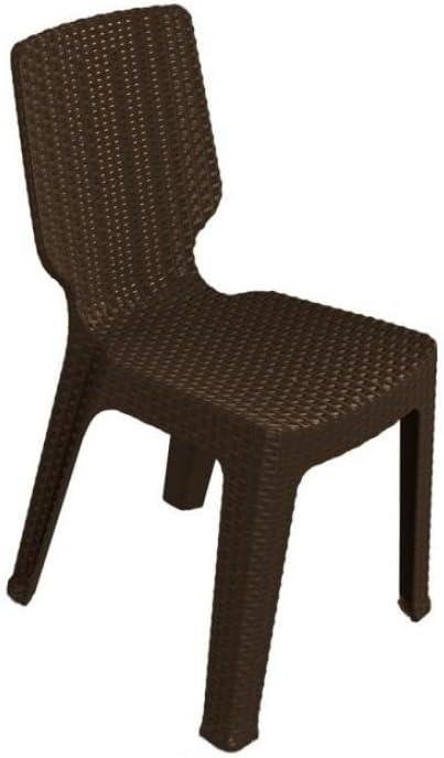 Keter - Silla de jardín exterior T-chair, Color marrón: Amazon.es: Jardín