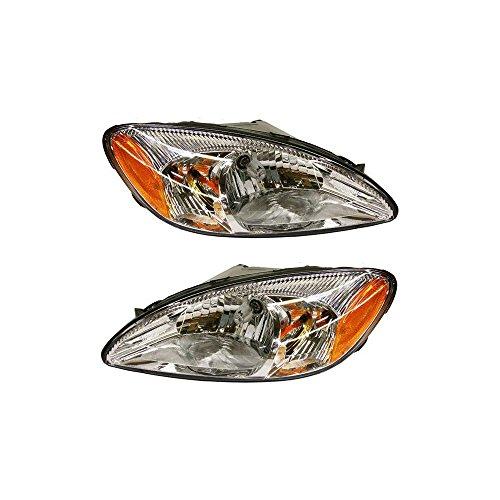 Evan-Fischer EVA13572056350 Headlight for FORD TAURUS 00-07 RH and LH Assembly Halogen (Ford Taurus Headlight Assembly)
