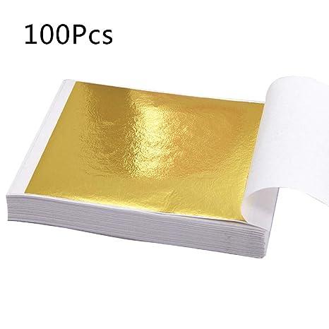 Amazonde Sitonelectic 100 Blatt Blatt Imitation Gold