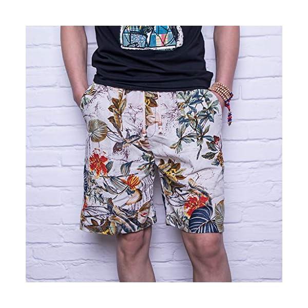 Uomo Estiva Hawaii Pantaloncini con Coulisse da Bagno Protezione UV Surf Mare da Spiaggia Pantaloncini Uomini Casual 3D… 3 spesavip