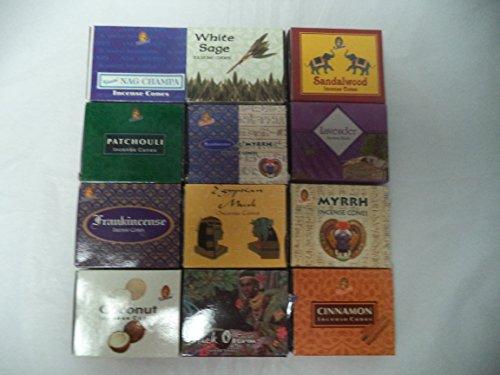 - HEM 12 Assorted Boxes of Kamini Incense Cones, Set 12 X 10 (120 Total)
