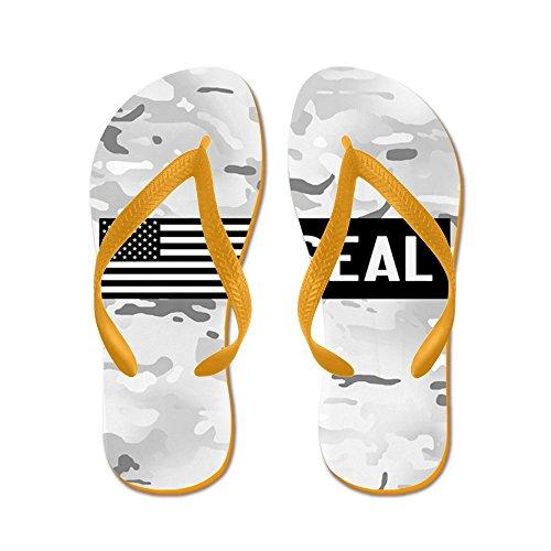 CafePress U.S. Navy: Seal (Arctic) - Flip Flops, Funny Thong Sandals, Beach Sandals Orange