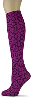 product image for Sox Trot GOOD LUCK/MAGENTA - Printed Nylon Knee-Hi's