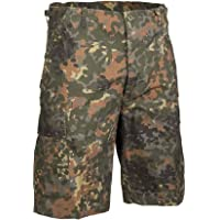 Mil-Tec Men's US Prewashed Ripstop Bermuda Shorts Flecktarn