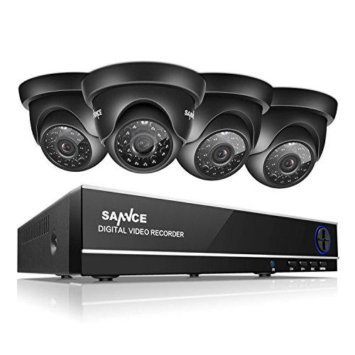 SANNCE 8CH Full 1080N DVR Security Camera System and  720P 1