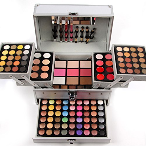 FantasyDay Holiday Gift Set Carry All Trunk Makeup Kit All In One 132 Colors Makeup Palette Includes...