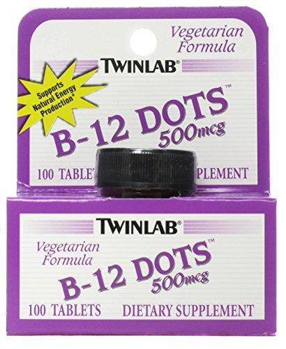 - TWINLAB B-12 DOTS,500 MCG, 100 DOT, 3 pack