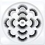 5D false mink eyelashes extensions dramatic long fake lashes for girls makeup handmade soft eyelash,7PACK