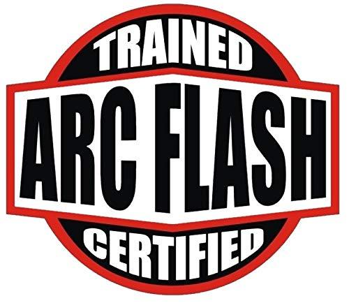 (Trained Certified ARC Flash Hard HAT Sticker Helmet Sticker)