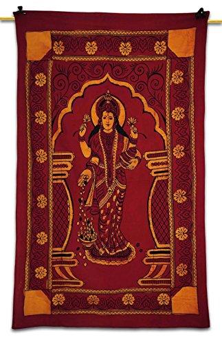 indian-goddess-money-laxmi-lakshmi-tapestry-throw-wall-hanging-ethnic-twin-decor