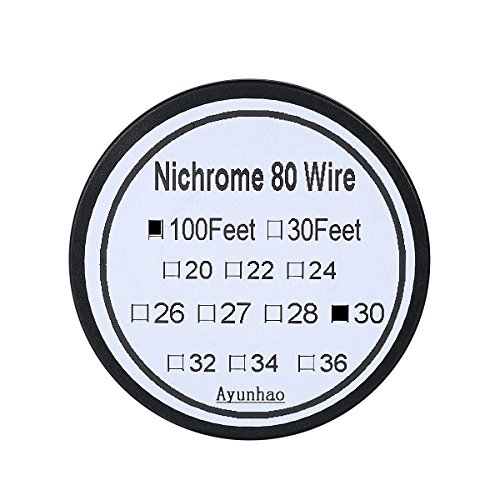 (Nichrome 80 wire 30 Gauge AWG Pure Nickel 200 Non Resistance Wire 0.254mm 30g 100')
