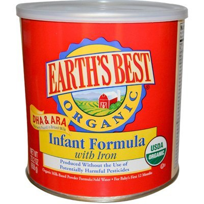 Earth's Best Infant Form Organic DHA & ARA (4x23.2 Oz) (Earths Best Organic Infant Powder Formula With Iron)