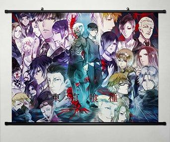 Home Decor Anime Tokyo Ghoul Kaneki Ken Wall Scroll Poster Fabric