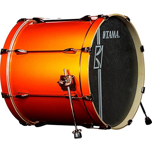 Set Up Bass Drum (Tama Superstar Hyper-Drive SL Bass Drum with Black Nickel Hardware 22 x 18 in. Orange)