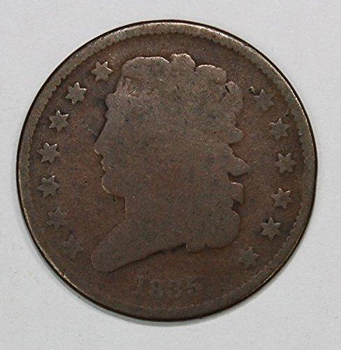 1835 Classic Head Half Cent 1/2c Very Good