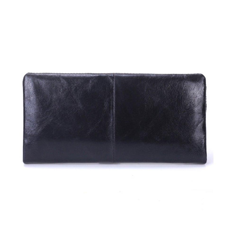 UHHAN Men's Wallet,Genuine Leather Wallet,ID Card Holder,Bifold Large Capacity Men