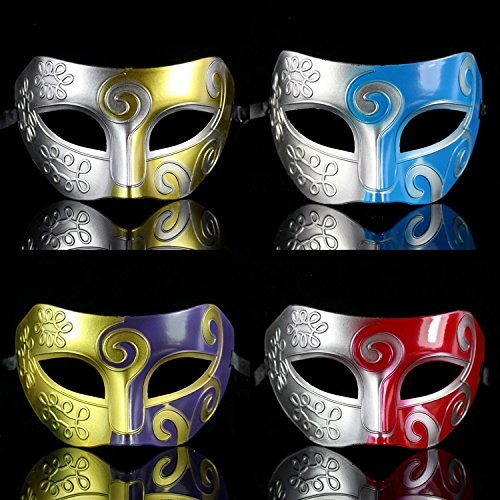 NeDonald Roman Greek Mens Venetian Halloween Costume Party Masquerade Mask Style 9 ()