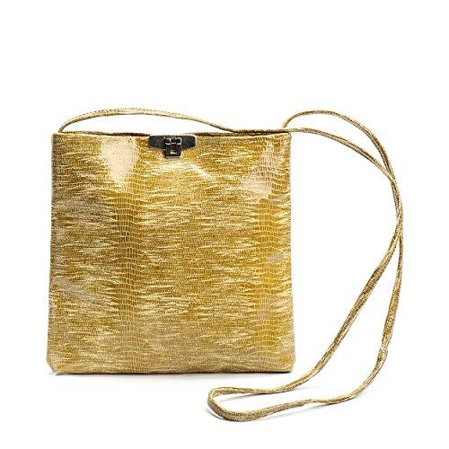 Kisim Timeless Women Jill Soft Leather Evening Handbag, Onesize - 9.8''x9.8''x1.2'' (Lime) by Kisim