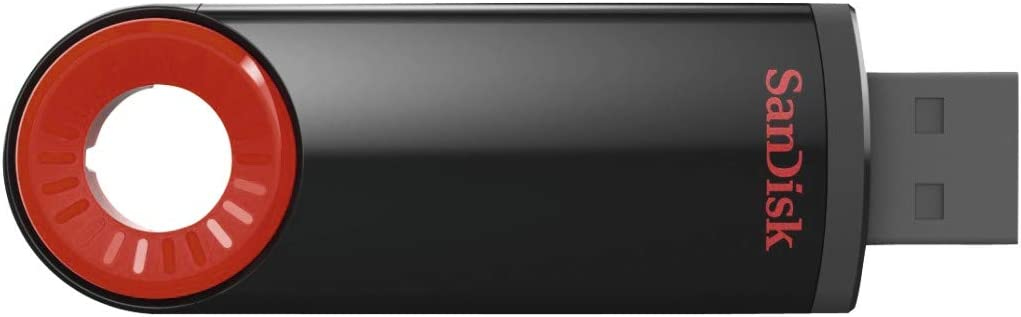 Usb 2.0 Sandisk Cruzer Dial Usb Flash Drive,16gb Retractable Design Robust Pivot Black 5y