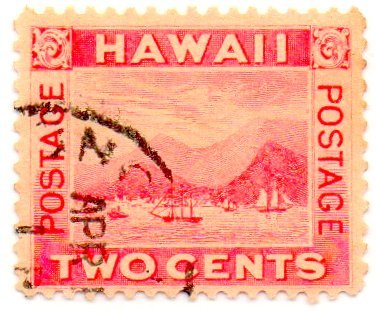 Hawaii Postage Stamp Single 1899 View Of Honolulu Issue 2 Cent Scott #81