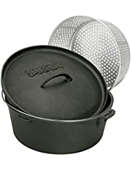 Bayou Classic 8.5-qt Dutch Oven with Steamer Basket , Black