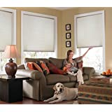 "Custom Cordless Single Cell Shades, 53W x 53H, Cool White, Any size from 21"" to 72"" wide and 24"" to 72"" high Available"