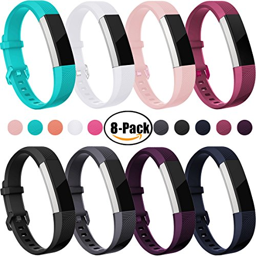 For Fitbit Alta HR and Alta Bands(8 Pack), Maledan Replacement Accessories Wristbands for Fitbit Alta and Alta HR, Small