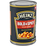 Heinz Texas Style Bold & Spicy BBQ Baked Beans Can, 16 Ounce (Pack of 12)