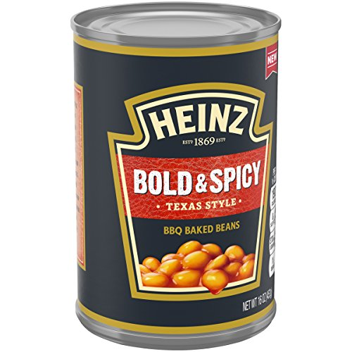 Heinz Bold & Spicy BBQ Baked Beans (16 oz Cans, Pack of 12) (Best Barbecue Baked Beans)
