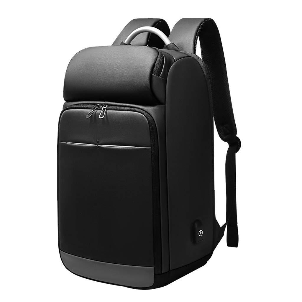超薄型ノートPCのラップトップのバックパック、ビジネススクールの防水バッグ多機能USB充電トラベルバッグは、カジュアルなコンピュータ15.6インチに最適です 色:黒、サイズ:48 * 31 * 18センチ   B07PMJWPW7