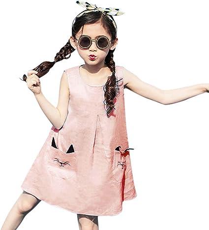 Nouveau Robe Ado Enfants Bébés Filles Dessin Animé Sans