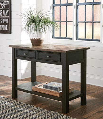 Signature Design by Ashley T736-4 Ashley Furniture Signature Design-Tyler Creek Drawers Sofa/Console Table, Grayish ()