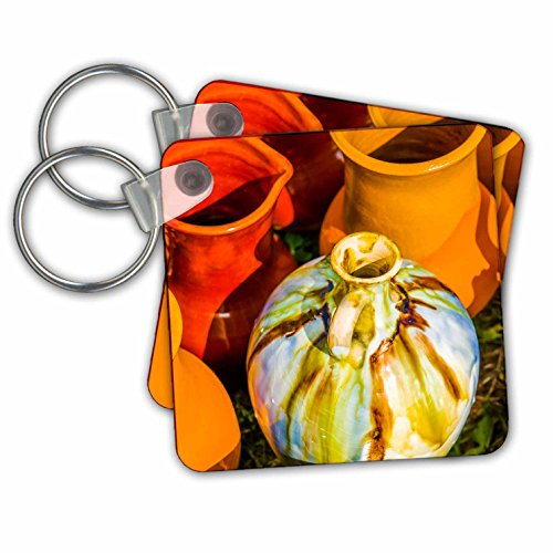 Alexis Photography - Objects - Group of earthenware vessels - Key Chains - set of 2 Key Chains (kc_270807_1) - 2 Ceramic Vessels