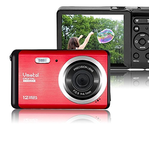 Mini Digital Camera,Vmotal 3.0 inch TFT LCD HD Digital Camera Kids Childrens Point and Shoot Rechargeable Digital Cameras Red-Sports,Travel,Holiday,Birthday Present