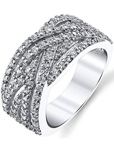 925 Sterling Silver Cubic Zirconia CZ Right Hand Ring Band Size (Fashion Right Hand Ring)