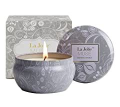 LA JOLIE MUSE: ECO--FRIENDLY CANDLEWe at LA JOLIE MUSE believe that eco-friendly products can also be luxurious and decadent. This candle perfectly demonstrates our belief. This eco pure soy scented candle has a beautiful scent throw t...