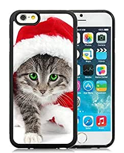 2014 New Style iPhone 6 Case,Christmas Cat Black iPhone 6 4.7 Inch TPU Case 7
